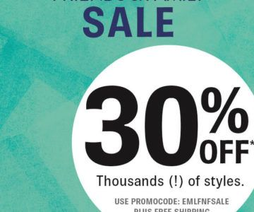 30% off + Free Shipping SHOES Friends & Family Sale