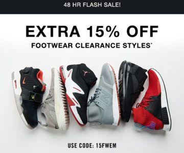2 Day Flash Sale – EXTRA 15% Off Footwear