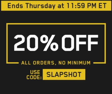 1 Day Sale – 20% off Jerseys, Hats and other Fan Gear