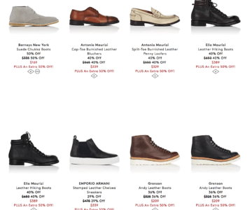 Extra 50% off shoes – One Day Sale