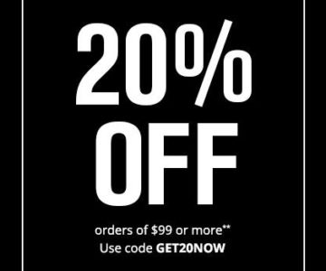 Save 20% on all orders over $99 at Foot Locker