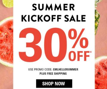 SHOES Summer Kickoff Sale – 30% off + Free Shipping