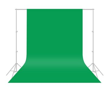 CRAPHY 6x10ft Premium Silk Green Screen Professional Photography Backdrop for only $9