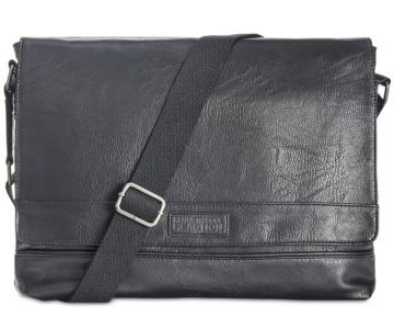 Kenneth Cole Men's Pebbled Messenger Bag on sale for $29.99 (originally $160)