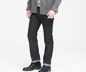 Banana Republic Straight Black-Wash Selvedge Jeans for $35 (normally $148) + Free Shipping