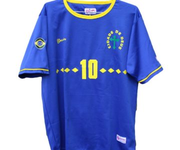 "50% OFF – Brazil Vintage Inspired ""City Of God"" Jersey"