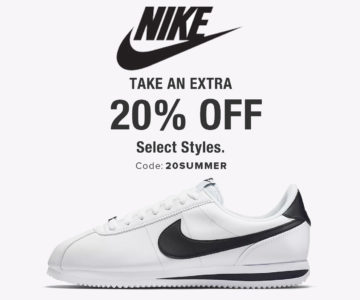 Extra 20% off – Nike Summer Sale