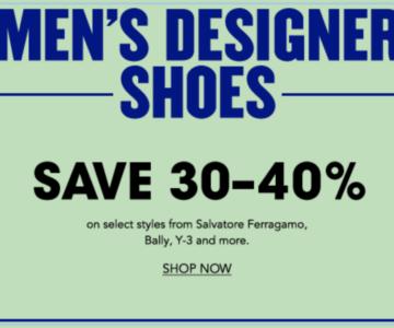 30-40% off Mens Designer Shoes