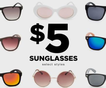 Sunglasses on sale for $5