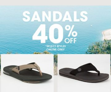 Extra 40% off Sandals
