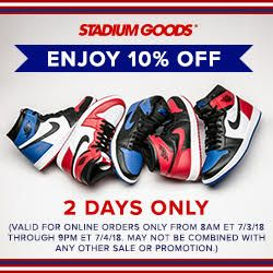 10% off Site-Wide at Stadium Goods