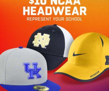 NCAA Headwear on sale for $10