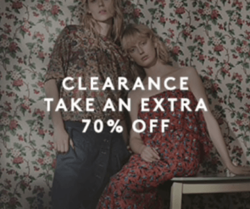 Extra 70% off Designer Clothing