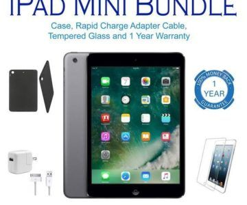 iPad Mini Bundle with 1 Year Warranty – $129.99