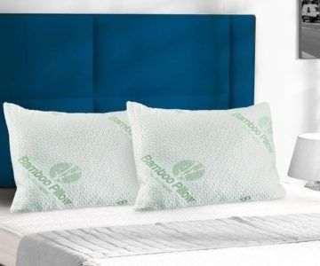 2 Pack Shredded Memory Foam, Bamboo Pillow Set for $29.99