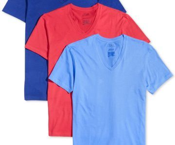 50% off 3 Pack Polo Ralph Lauren Men's Classic Fit V-Neck Shirts