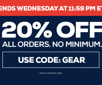 20% off Jerseys, Hats and more