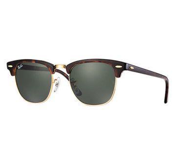 Authentic Ray-Ban Clubmaster Sunglasses for $68