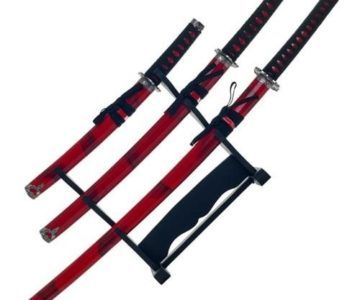 Red Marble Katana Set on sale for $39.99 with Free Shipping