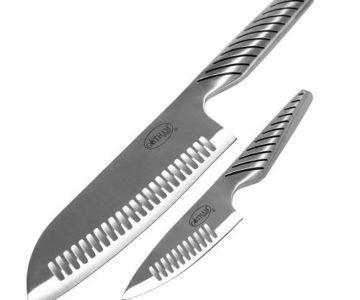 2 Pack Gotham Steel Pro Cut Japanese Knife Set for $10.88