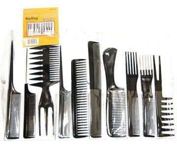 10 Piece Professional Styling Comb Set for $1 with Free Shipping