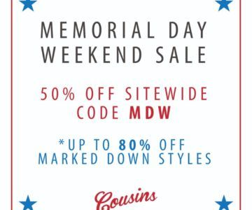 50% off your entire order – Memorial Day Coupon
