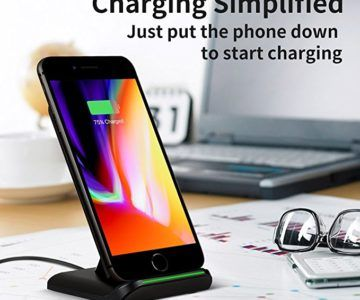 10W Fast Wireless Charging Stand for iPhone & Galaxy on sale for $11