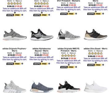 Extra 25% off Adidas Footwear