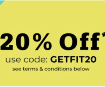 20% Off Sports and Fitness Products