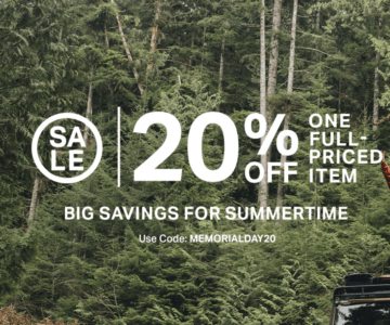Backcountry – 20% off 1 Full Priced Item