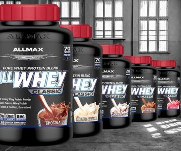 5lb. ALLMAX 100% Pure Whey-Protein for $39.99 (normally $55)