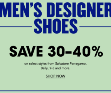 30-40% off Mens Designer Shoes