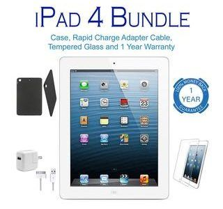 Apple iPad 4 Retina Bundle with 1-Year Warranty – $169.99