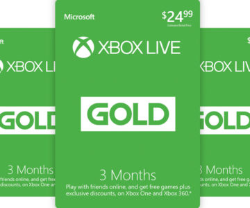 Buy 3 months of Xbox Live Gold and get 3 months free