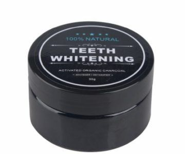 Teeth Whitening Powder Activated Charcoal Stain Remover – $2.99 with Free Shipping