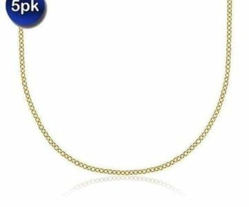 5-Pack of 18k Gold Chains for under $2 each