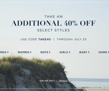 Extra 40% off Ralph Lauren