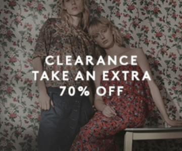 Extra 70% off Designer Clothing