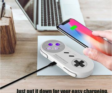 SNES Style Wireless Phone Charger for $9.99