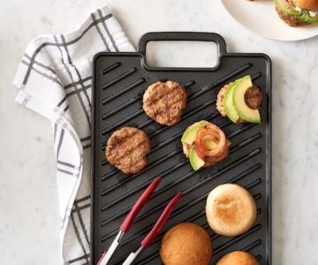 Pre-Seasoned Cast-Iron Reversible Grill for only $13.99 (retail $50)