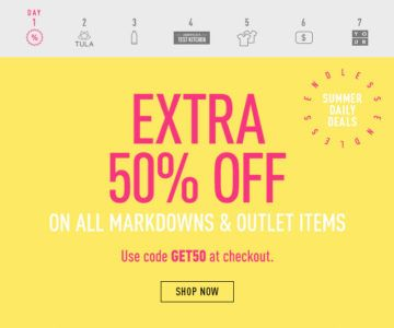 TODAY ONLY – Extra 50% off at Reebok