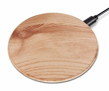 Get a Wood GrainQi-Certified Wireless Charger for $6.49
