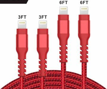4 Pack MFi Certified iPhone Chargeing Cables for $7.49
