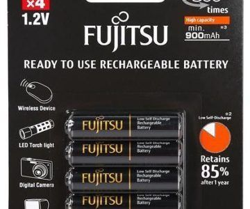 4 Pack Fujitsu AAA Rechargeable Batteries for $4.99 (originally $25)