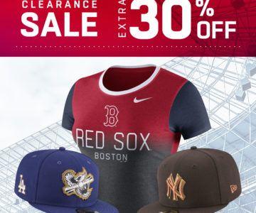 Extra 30% off MLB & NHL Gear