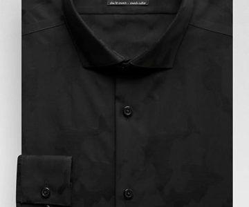 Calvin Klein Infinite Black Camo Slim Fit Dress Shirt for $9.99 (normally $110)