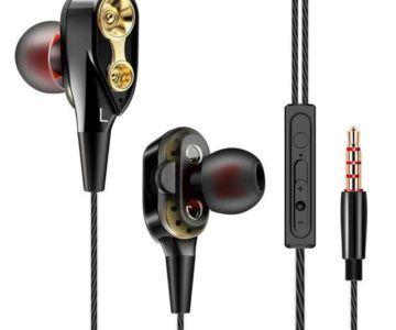 Double Driver In-ear HiFi Bass Earphones for $1.99 Shipped