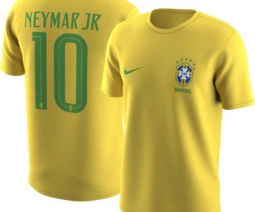 Nike Men's Brazil Neymar #10 Jersey Tee on sale for just $8.75 (retail $35)