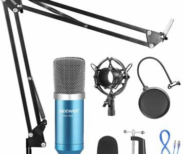 USB Studio Microphone kit with Boom, Shock Mount and Pop Filter for only $18.84