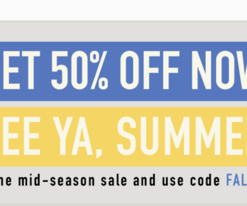 50% off Reebok End Of Summer Sale